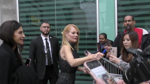 marg helgenberger greets fans outside a dog's journey premiere at arclight theatre in hollywood in celebrity sightings in los angeles, - marg helgenberger stock videos & royalty-free footage