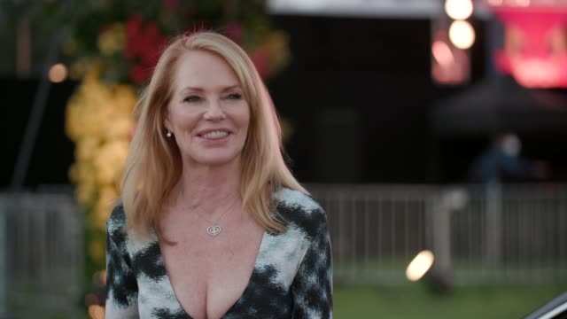 marg helgenberger on attending tonight's event at the 27th annual race to erase drive-in to erase at rose bowl on september 4, 2020 in pasadena,... - marg helgenberger stock videos & royalty-free footage