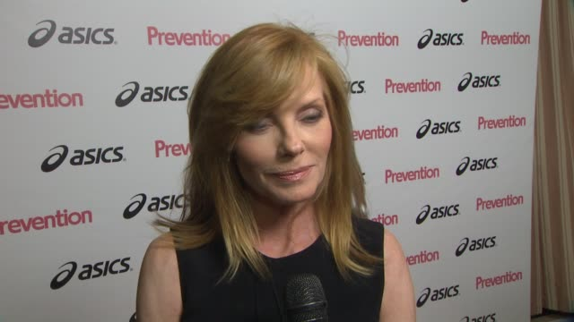 marg helgenberger on the prevention event, on her charity and why she's being honored, on the other women being honored and on what prevention means... - marg helgenberger stock videos & royalty-free footage