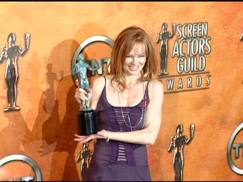 marg helgenberger winner for outstanding ensemble in a drama series for csi: crime scene investigation' at the 2005 screen actors guild sag awards... - shrine auditorium stock videos & royalty-free footage