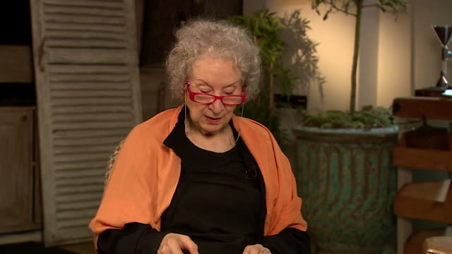 margaret atwood author reads the first line of the testaments the sequel to the handmaid's tale - headshot stock videos & royalty-free footage