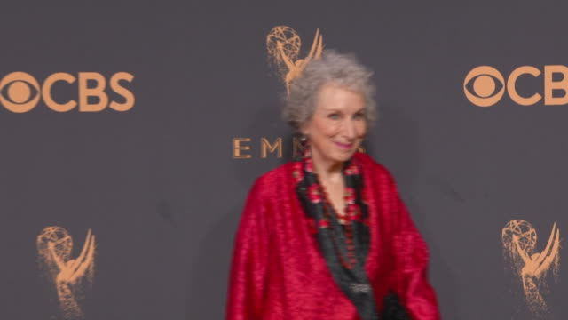 margaret atwood on the red carpet at the 2017 emmy awards on september 17, 2017 in los angeles, california. - emmy awards stock videos & royalty-free footage