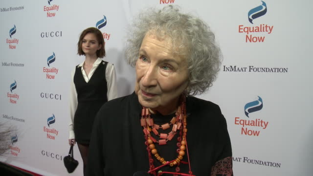 interview margaret atwood on what it means to be receiving this honor why its important to support women girls rights her hopes for 2019 if she's... - equality now stock videos and b-roll footage