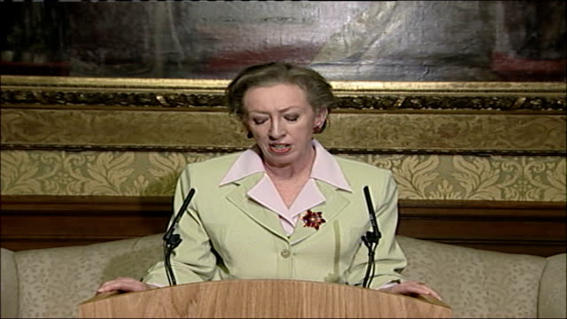 margaret beckett press conference on iraq study group report england london foreign and commonwealth office int margaret beckett mp press conference... - iraq study group stock videos & royalty-free footage