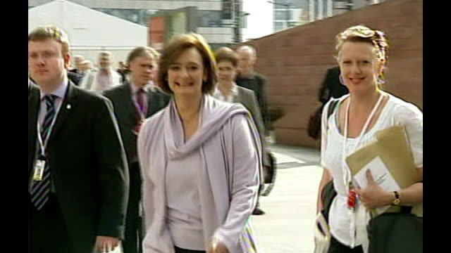 Margaret Beckett tricked by impressionist phone call FILE / R25090612 EXT Cherie Blair along outside 2006 Labour Party Conference TO