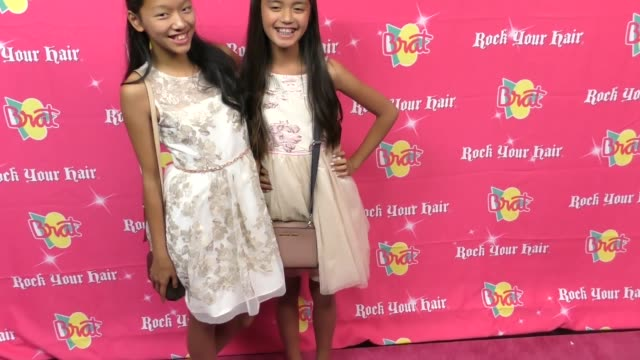 margaret piatos and stella luong at the rock your hair presents - rock back to school concert and party at avalon on september 30, 2017 in hollywood,... - moderne rockmusik stock-videos und b-roll-filmmaterial