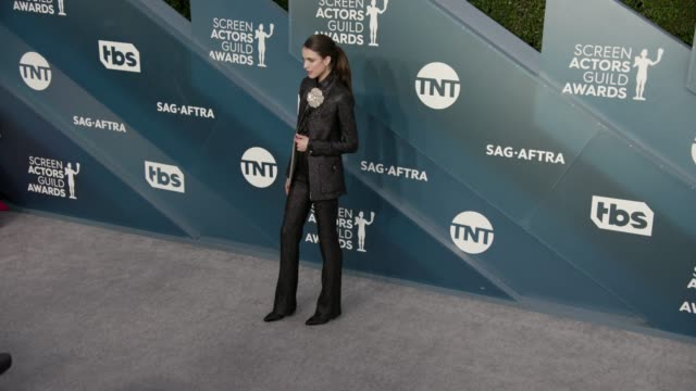margaret qualley at the 26th annual screen actorsguild awards - arrivals at the shrine auditorium on january 19, 2020 in los angeles, california. - screen actors guild stock videos & royalty-free footage