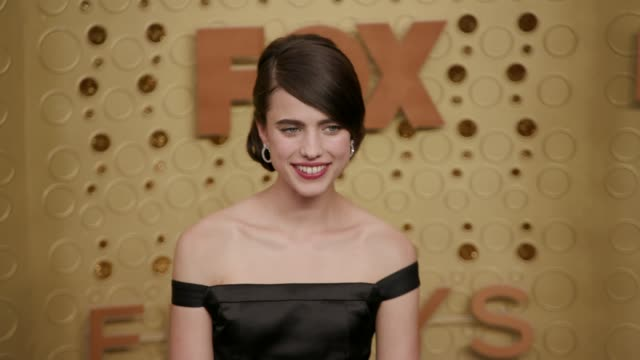 margaret qualley at the 71st emmy awards - arrivals at microsoft theater on september 22, 2019 in los angeles, california. - emmy awards stock videos & royalty-free footage
