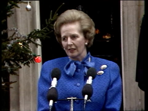Margaret Thatcher becomes longest serving PM this century ITN London 10 Downing St SOF / 'We have done it'