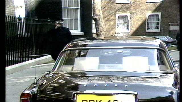 Margaret Thatcher becomes PM ENGLAND London No 10 Downing Street James Callaghan PM out of No 10 and into car Car along to Buckingham Palace
