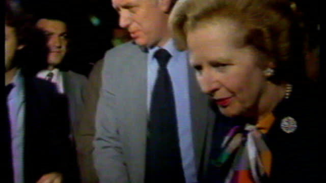 margaret thatcher changed hardhitting speech following brighton bomb attack s17110602 / brighton photography** margaret thatcher along and speaking... - brighton brighton and hove stock-videos und b-roll-filmmaterial