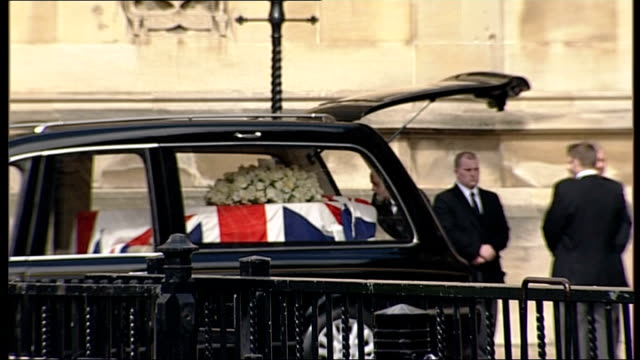 margaret thatcher death: body moved to crypt chapel of st mary undercroft in westminster: arrivals for service; england: london: westminster ext... - crypt stock videos & royalty-free footage