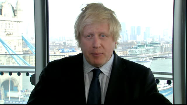 margaret thatcher death: boris johnson interview; england: london: city hall: int boris johnson interview sot - this country has just lost its... - no doubt band stock videos & royalty-free footage