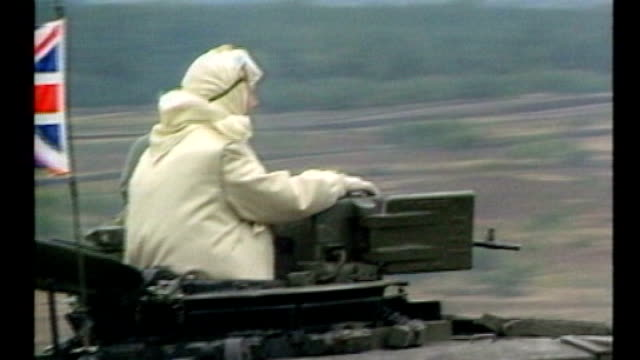 mps tributes in special session of parliament 1981986 / 138576 germany margaret thatcher along on military tank during visit to nato military exercies - armored tank stock videos & royalty-free footage