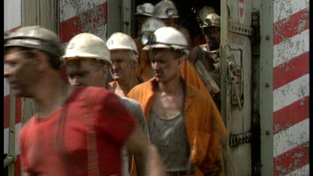 obituary 1984 miners' strike miners from pithead / picketing miners clash with police at orgeave steel works arthur scargill arrested during clashes... - miner stock videos and b-roll footage