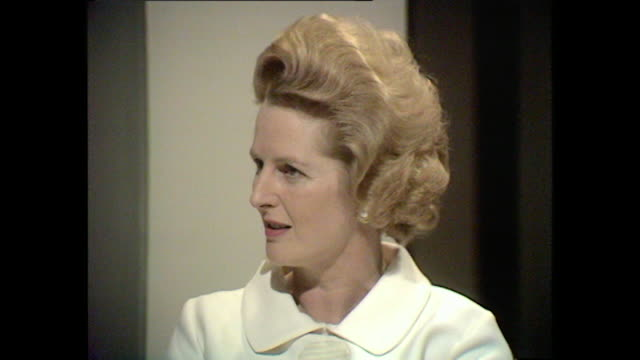 margaret thatcher explains her views on teaching sex education to children in schools. - 性教育点の映像素材/bロール