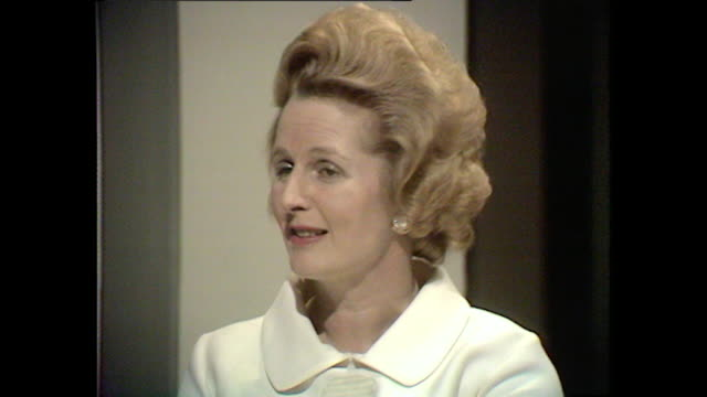 margaret thatcher explains why she decided to enter politics - bbc archive stock-videos und b-roll-filmmaterial