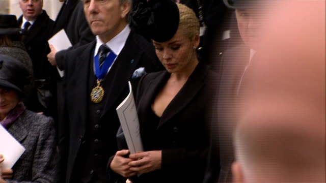 1200 1230 ext people leaving the cathedral / former conservative minister neil hamilton former cabinet minister lord gummer / journalist and... - tim rice stock videos and b-roll footage