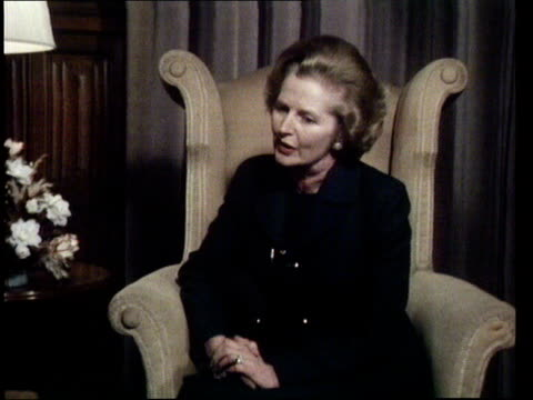 immigration england manchester ms/cs mrs m thatcher sf now that's an awful loti shall not make it a major election issueat they are talking about... - 1978 stock videos & royalty-free footage