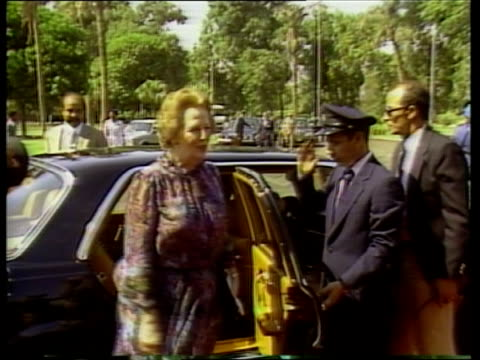 day 2 a egypt cairo margaret thatcher rl ms lr past graves cs thatcher looking pul out walks rl ms president hosni mubarak chatting another zoom in... - {{ collectponotification.cta }} stock videos & royalty-free footage