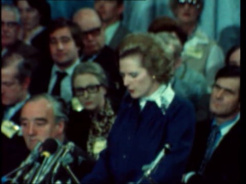 margaret thatcher on immigration sof 'everytime a conservative governmentand tolerance' claps ekt 16mm harding 112mins 45ft 8478/100pm - emigration and immigration stock videos & royalty-free footage