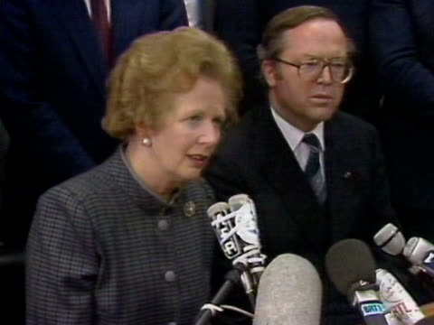 stockvideo's en b-roll-footage met margaret thatcher praises the rescue workers who helped with the zeebrugge ferry disaster - ramp veerboot zeebrugge 1987