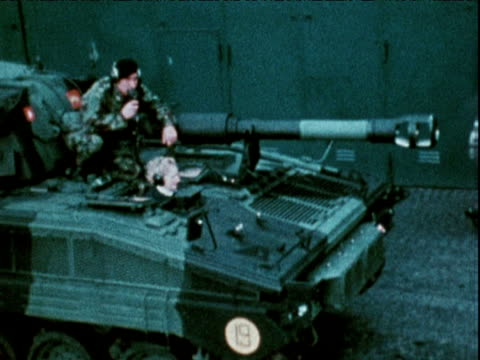 margaret thatcher riding in tank west germany 1976 - margaret thatcher stock videos & royalty-free footage