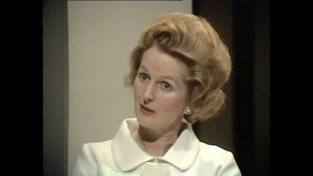 margaret thatcher talks about her views on working mothers. - berufstätige mutter stock-videos und b-roll-filmmaterial