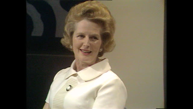 margaret thatcher talks about how she has learnt to control her nerves. - margaret thatcher stock videos & royalty-free footage