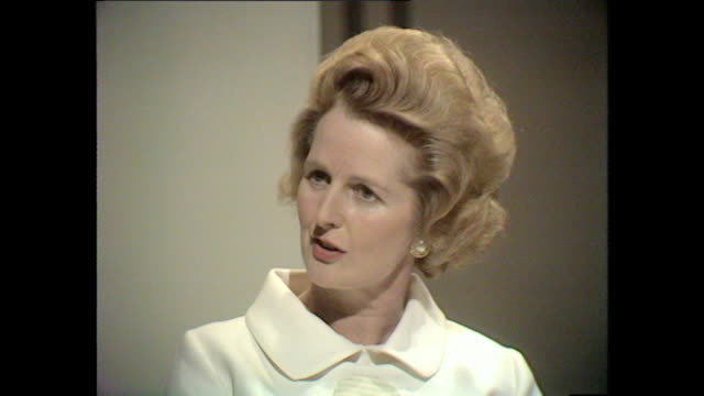 margaret thatcher talks about what subjects she enjoyed studying at school - margaret thatcher stock videos & royalty-free footage