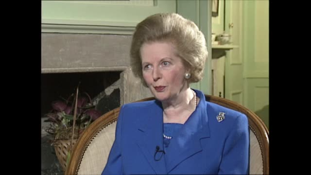 margaret thatcher to step down as interview part one interview clip 2 of 4 london could you live with something like the delors compromise margaret... - money politics stock videos & royalty-free footage