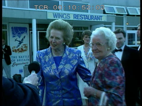 finchley reactions cf england london finchley cms former pm margaret thatcher rl and comments to press as past sof it's lovely to be amongst friends/... - 1959 stock videos & royalty-free footage