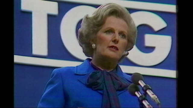 margaret thatcher's personal papers given to the nation; lib location unknown: margaret thatcher mp speech at conservative party conference sot - the... - turning stock videos & royalty-free footage