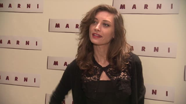 margareth made at marni fragrance launch at tbd on february 05 2013 in new york new york - marni stock videos & royalty-free footage