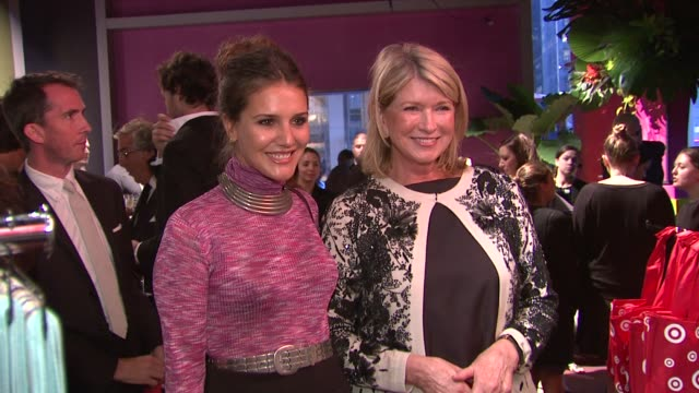 margherita maccapani missoni and martha stewart at the missoni for target private launch event at new york ny. - martha stewart stock videos & royalty-free footage