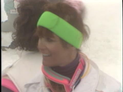 Margot Kidder at the Celebrity Ski Tournament at Whistler BC