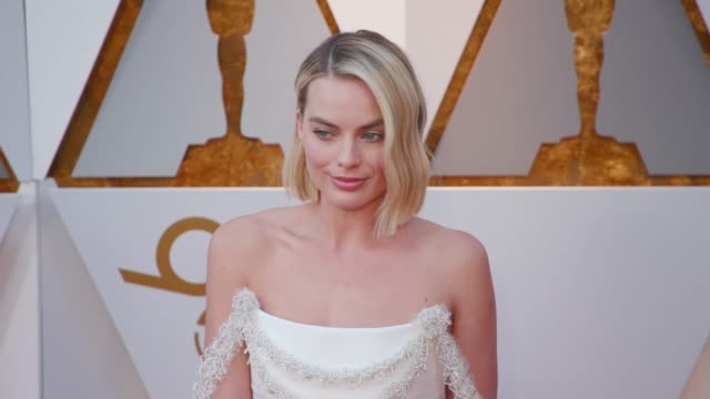 margot robbie at dolby theatre on march 04 2018 in hollywood california - annual event stock videos & royalty-free footage