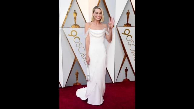 margot robbie attends the 90th annual academy awards at hollywood highland center on march 4 2018 in hollywood california - academy awards stock videos & royalty-free footage