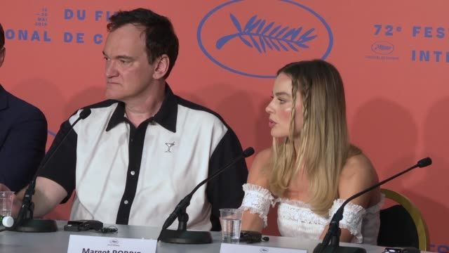 interview margot robbie on her research she did for her character sharon tate seeing her character as a ray of light sharon tate at 'once upon a time... - 72nd international cannes film festival stock videos and b-roll footage