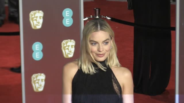 Margot Robbie on the red carpet of the 2018 BAFTA award ceremony in London London UK 18th february 2018