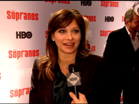 maria bartiromo talks about loving the show being a fan loving the characters missing the show and tony keeping the preview a secret - 2006 stock videos & royalty-free footage