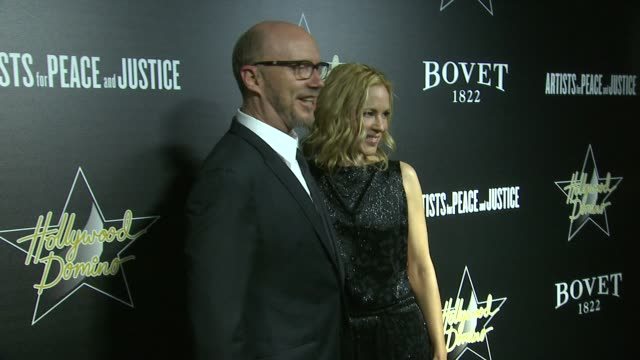 maria bello and paul haggis at the 7th annual hollywood domino bovet 1822 gala benefiting artists for peace and justice at sunset tower hotel on... - paul haggis stock videos and b-roll footage