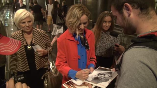 stockvideo's en b-roll-footage met maria bello at nbc studios in new york, ny, on 9/18/13. - maria bello