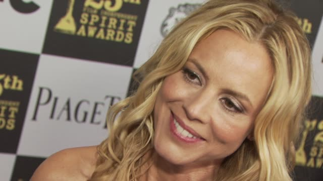 maria bello at the 2010 film independent's spirit awards - arrivals part 2 at los angeles ca. - maria bello stock videos & royalty-free footage