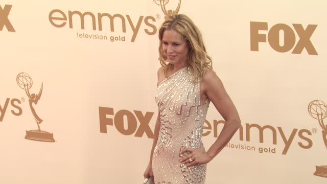 maria bello at the 63rd primetime emmy awards arrivals part 1 at los angeles ca - 63rd annual primetime emmy awards stock videos and b-roll footage