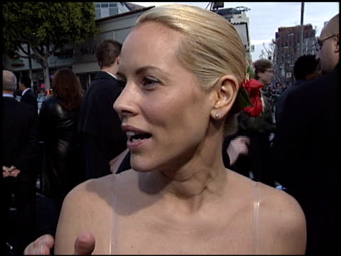 maria bello at the premiere of 'the matrix reloaded' on may 7, 2003. - maria bello stock videos & royalty-free footage
