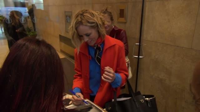 stockvideo's en b-roll-footage met maria bello at the siriusxm radio studio in new york, ny, on 9/18/13. - maria bello