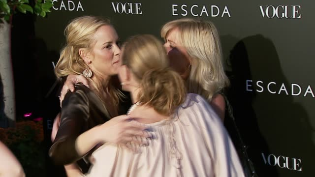maria bello at the the grand opening of the beverly hills flagship boutique celebrated by escada, hilary swank and vogue at escada in beverly hills,... - escada stock videos & royalty-free footage