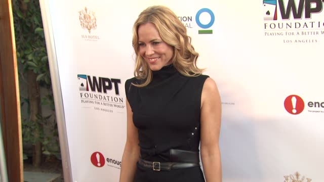 maria bello at world poker tour unveils wpt foundation 'wpt playing for a better world' series on 3/11/12 in los angeles, ca. - maria bello stock videos & royalty-free footage