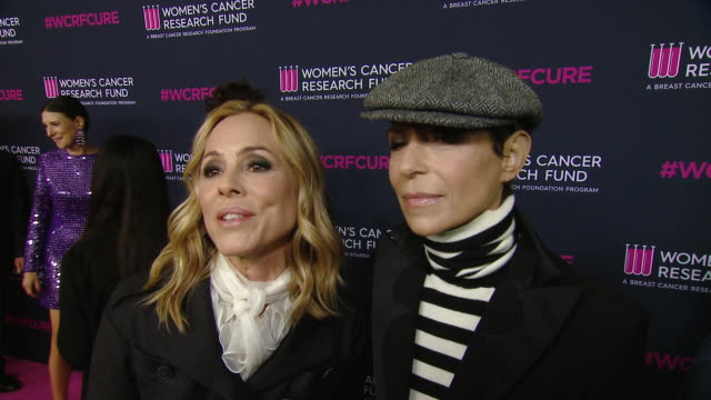"""stockvideo's en b-roll-footage met maria bello, dominique crenn on the event at the wcrf's """"an unforgettable evening"""" at beverly wilshire, a four seasons hotel on february 27, 2020 in... - maria bello"""
